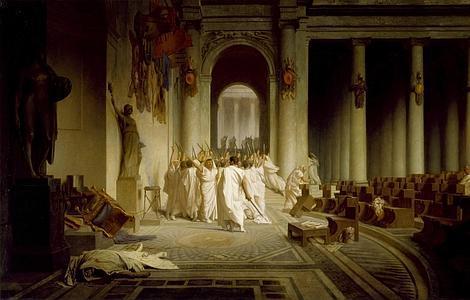 La muerte de Julio César, por Jean-León Gérôme
