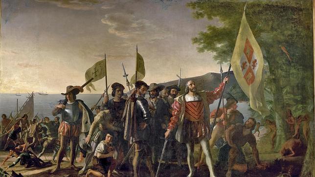 Llegada de Cristóbal Colón a las Indias Occidentales, por John Vanderlyn