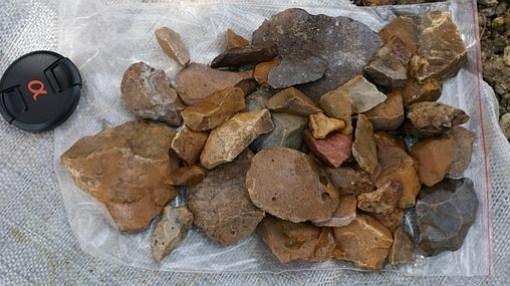 Artefactos de piedra hallados en Sulawesi
