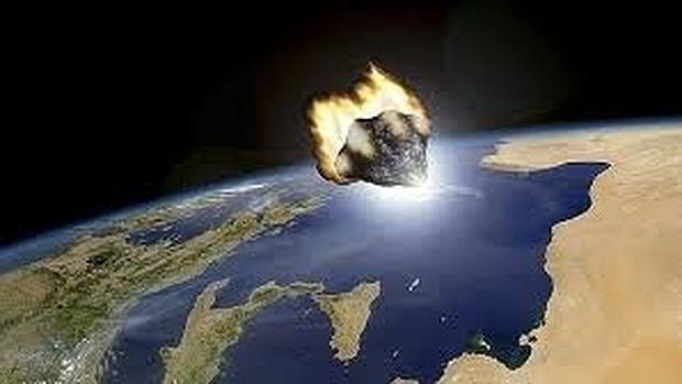 Recreación de un meteoro acercándose a la Tierra