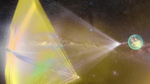 La mininave podría navegar por el espacio a un 20% de la velocidad de la luz