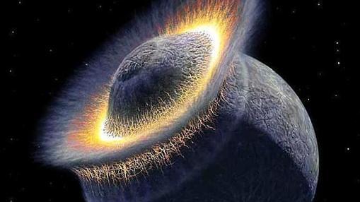 Impacto entre Theia y la Tierra, y que creó la Luna en pleno Gran Bombardeo del Sistema Solar