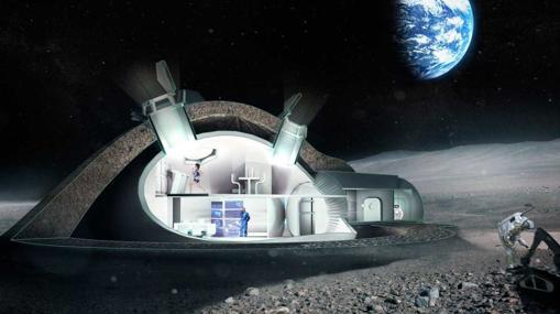 Concepto de estación espacial lunar de la Agencia Espacial Europea