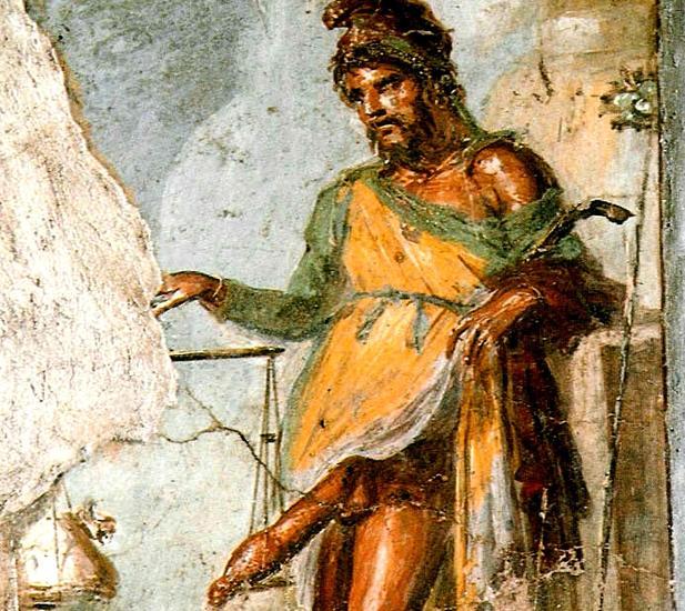 Resultado de imagen para Aparece un fresco del dios Príapo en Pompeya, símbolo de la potencia y la riqueza