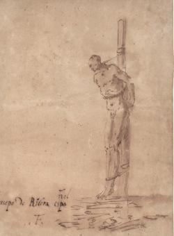 «Hombre atado a un poste», de Ribera
