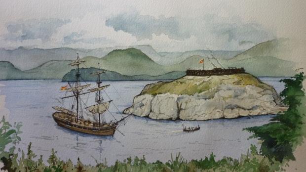 Fuerte español de San Miguel, en la bahía de Nutka