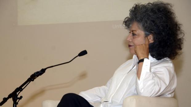 Doris Salcedo, ayer, en el Hay Festival de Segovia