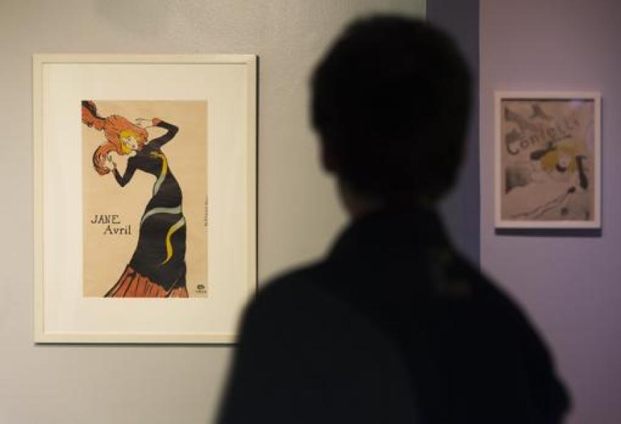 Jane Avril, bailarina y amiga de Toulouse-Lautrec, es una de las protagonistas de sus carteles