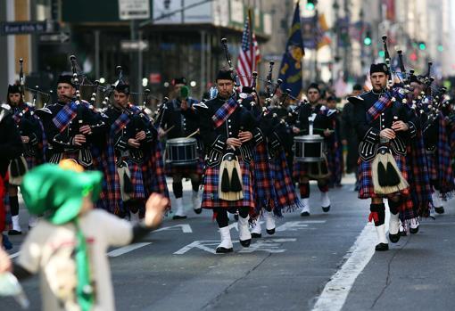 Tradicional desfile en honor de San Patricio por las calles de Nueva York en 2016