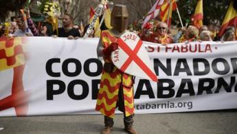 Manifestación de la plataforma Tabarnia en Barcelona