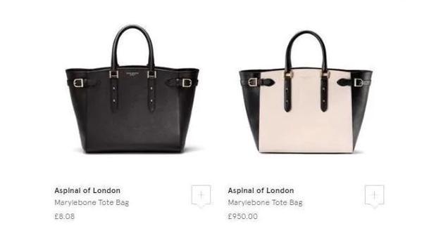 La diferencia de precios en los bolsos de Aspinal