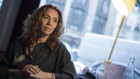 Ángela Quintás, en el Hotel de las Letras (Madrid), durante la entrevista