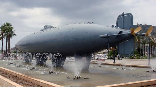 Submarino Peral en 2007 en Cartagena.