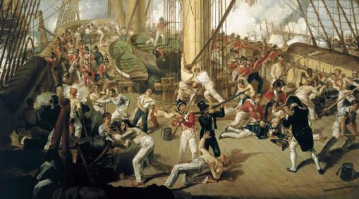 Combate durante la batalla de Trafalgar