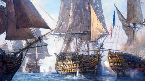 El Victory, durante el combate