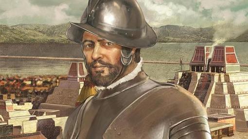 Representación de Hernán Cortés