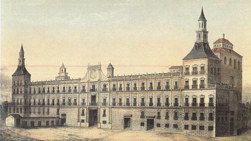 El Real Alcázar hacia 1710.