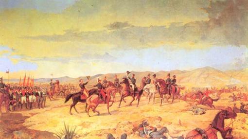 Óleo de la batalla de Ayacucho, una obra de Martín Tovar y Tovar