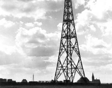 Torre de radio en la que se sucedó el incidente