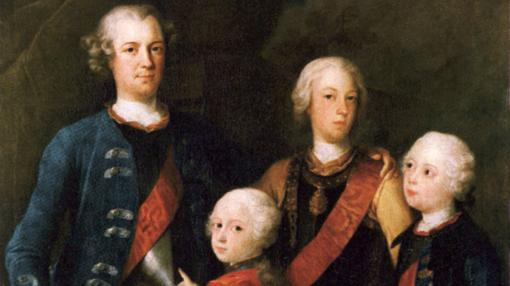 Retrato familiar de Federico Guillermo I y sus hijos varones