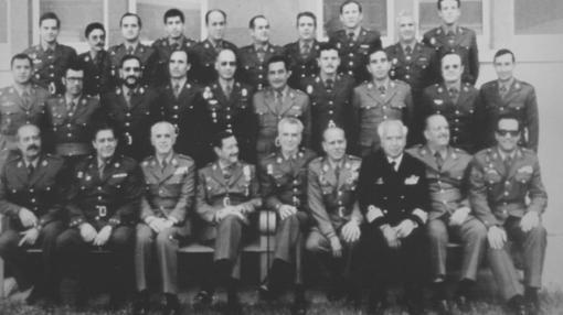 Los procesados, en una fotografía de 1991