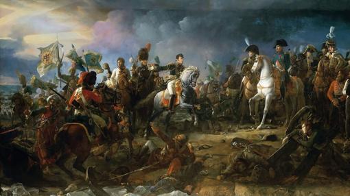 Napoleón en la batalla de Austerlitz, óleo de François Gérard.