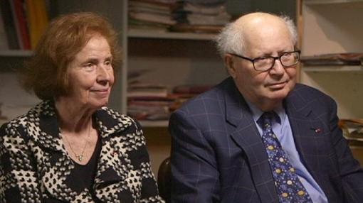 Los Klarsfeld, durante una entrevista en la actualidad