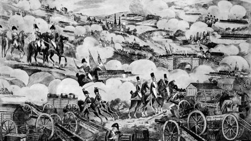 Ilustración de la batalla de Vitoria