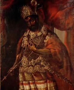 Retrato anónimo de Moctezuma II,
