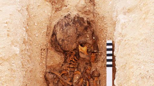 Restos hallados en Amarna