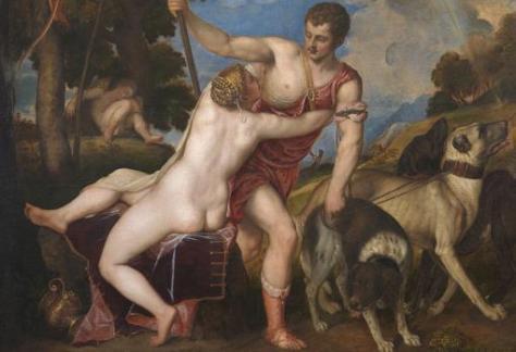 """Danae y Venus y Adonis, las primeras """"poesías"""" de Tiziano para Felipe II"""