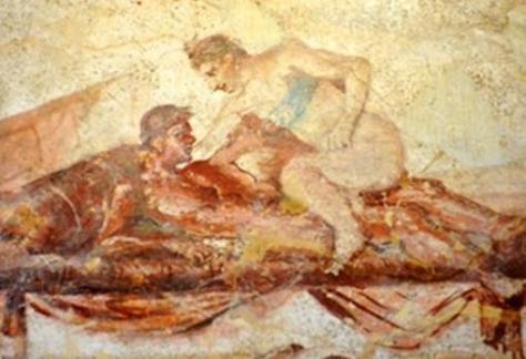 Pintura mural de un prostíbulo