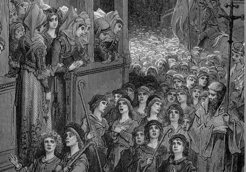 La Cruzada Infantil, por Gustave Doré
