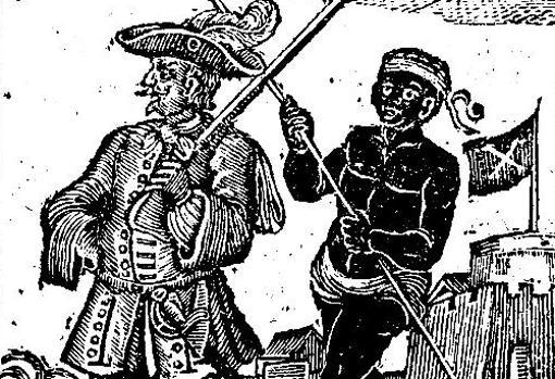 Every, escoltado por un esclavo