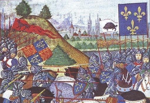Pintura mal interpretada de la batalla de Patay