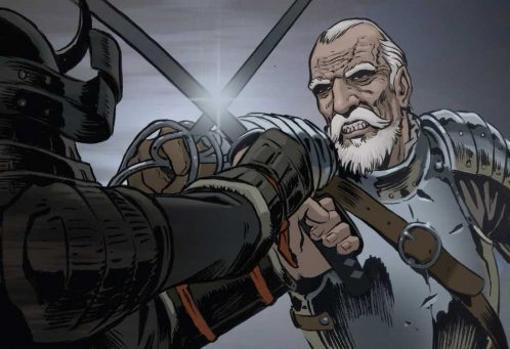 Uno de los dibujos incluidos en el cómic español Espadas del fin del Mundo, donde se narra la historia de Carrión