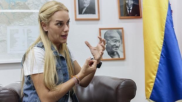 Lilian Tintori en una entrevista en Caracas