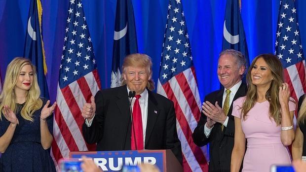 Trump en su victoria en Carolina del Sur