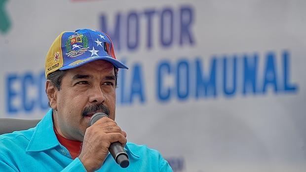 Nicolás Maduro, presidente de Venezuela, da un duiscurso en una concentración en Caracas el pasado 14 de mayo