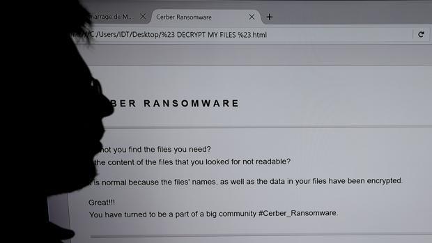 Imagen de un ataque «ransomware»