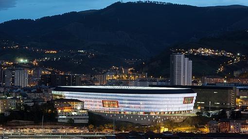 San Mamés, en la noche de Bilbao