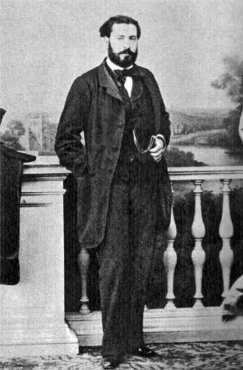 Gustavo Adolfo Bécquer, fotografiado por M. de Hebert