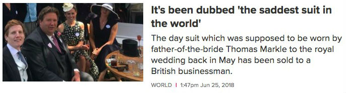 """Title reads """"The saddest dress in the world"""""""