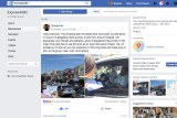 Facebook post showing photos of woman asking taxi driver about Lane journey from Auburn hospital.