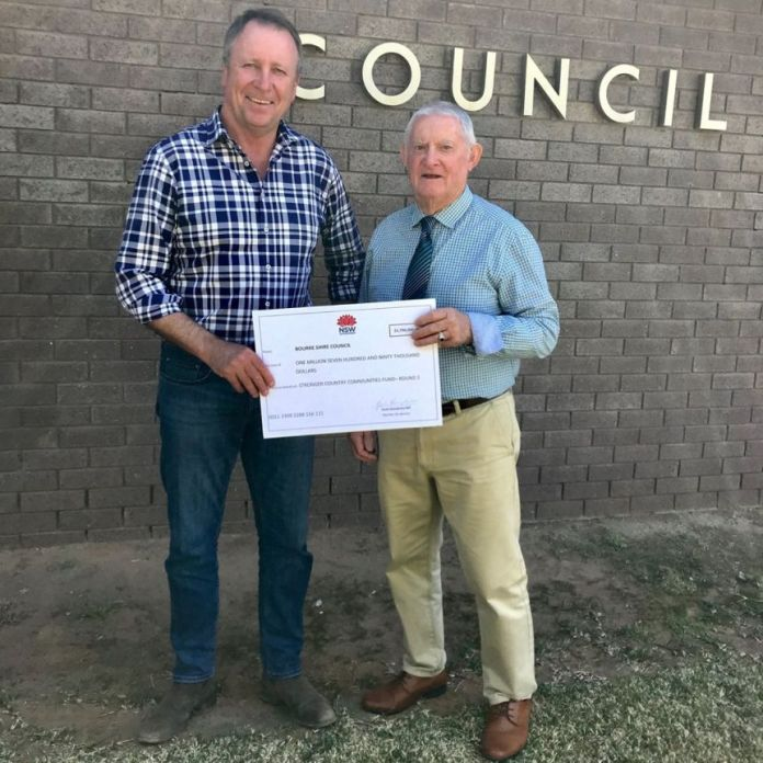 Bourke Shire Council Mayor and Kevin Humphries