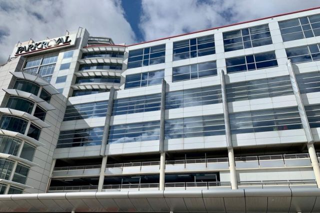 An exterior view of the ParkRoyal Melbourne Airport hotel.