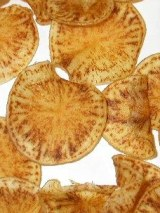 Potato crisps exhibiting Zebra chip
