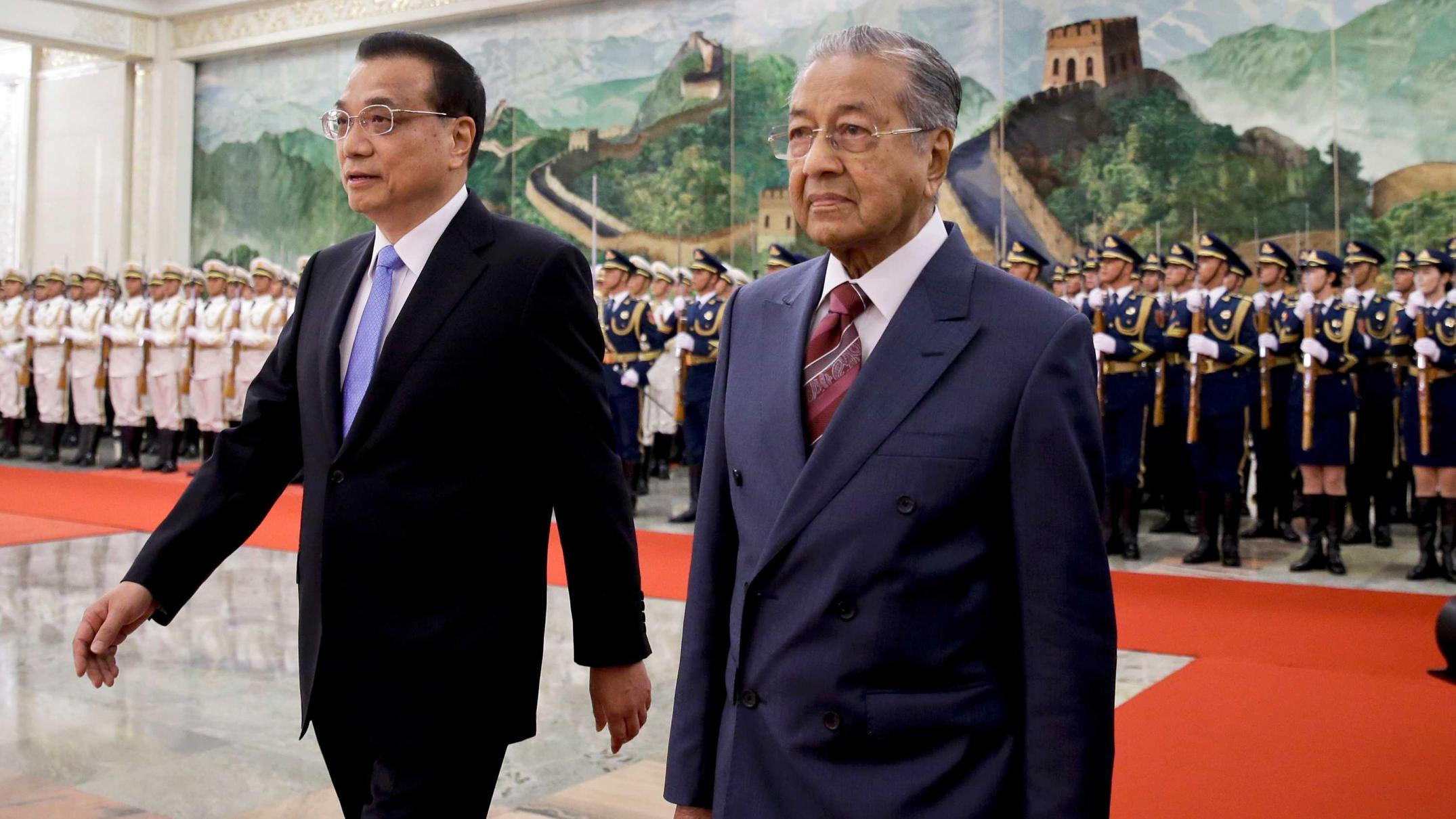 Image result for Mahathir in China 2018