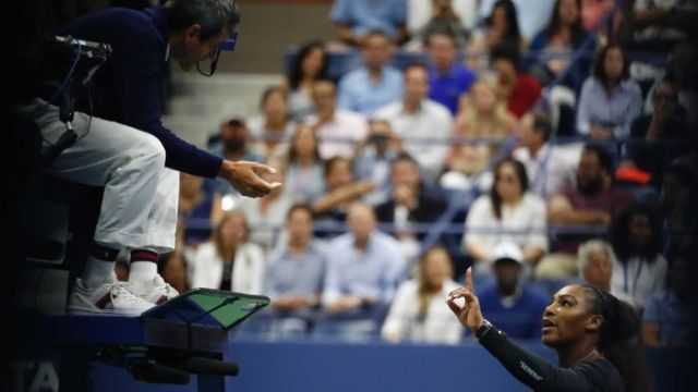 "Serena Williams received a third code violation for ""verbal abuse"" at the US Open (Pic: Reuters)"