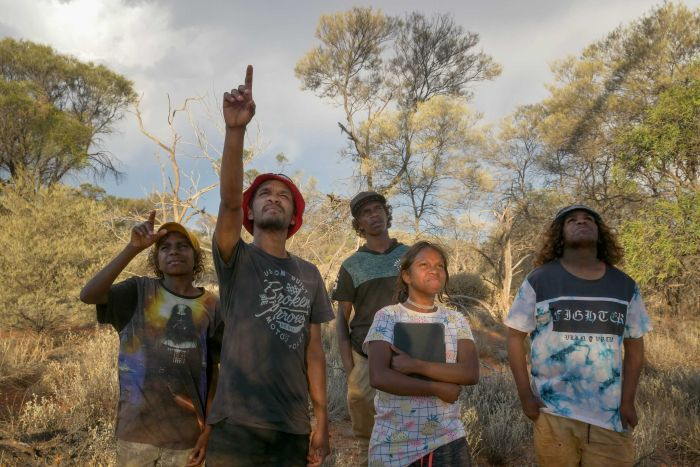 Martu kids on country